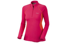Columbia Women&#039;s Baselayer Midweight LS 1/2 Zip bright rose